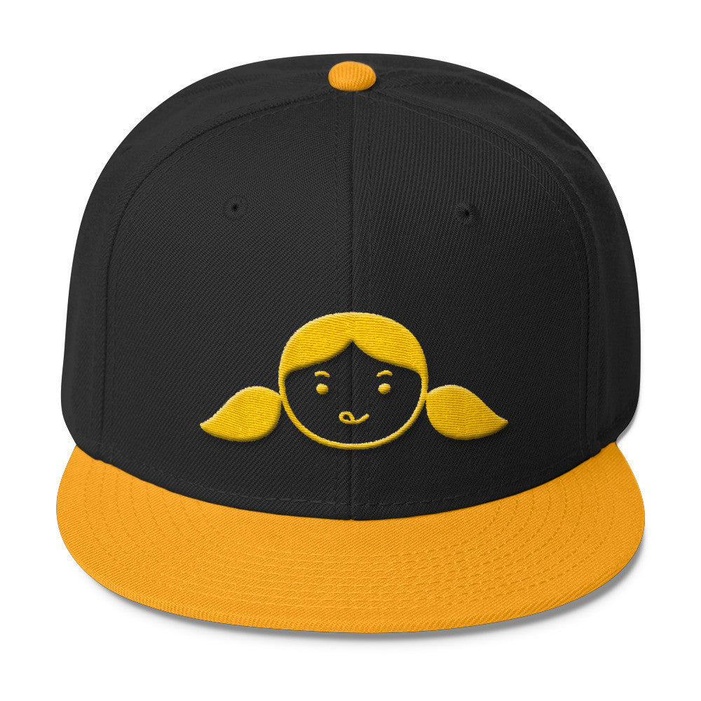 Nom Nom Paleo (Yellow/Black) Embroidered Wool Blend Snapback