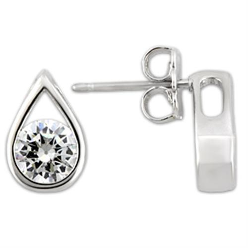 Rhodium Drop 925 Sterling Silver Earrings