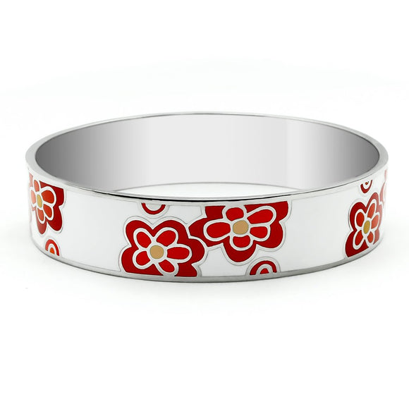Flowers High Polished (No Plating) Stainless Steel Bracelet