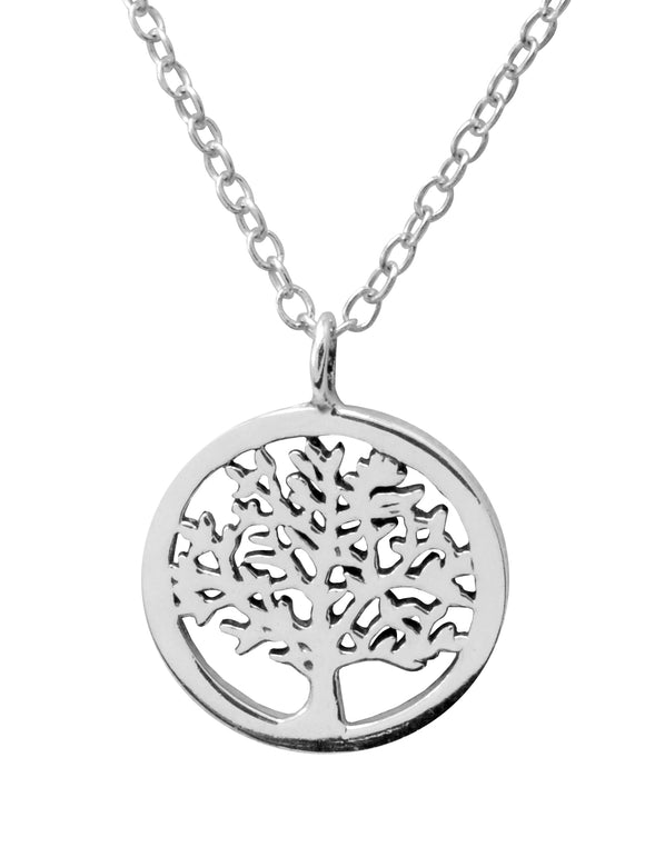 Sterling Silver Delicate Necklace - Oak Tree