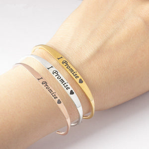 Forever Love Couple Cuff Bracelet Stainless Steel