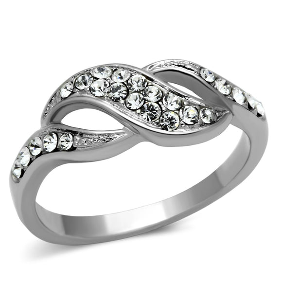 Crystals Stainless Steel Ring