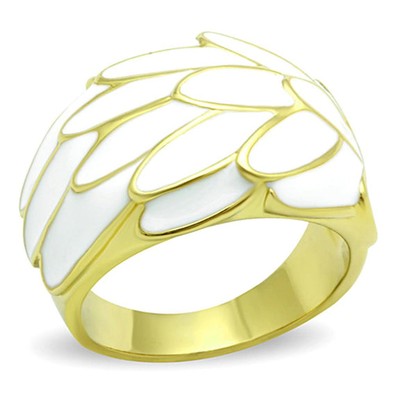 Gold Stainless Steel No Stone Ring
