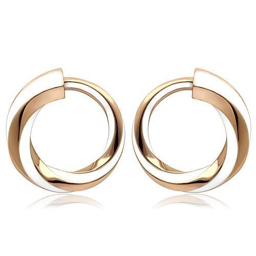 Women Stainless Steel Epoxy Earrings