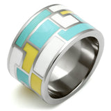 Women Stainless Steel Epoxy Ring