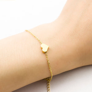 Tiny Heart Bracelet For Women Stainless Steel