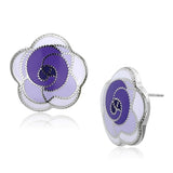 Purple Stainless Steel Earrings