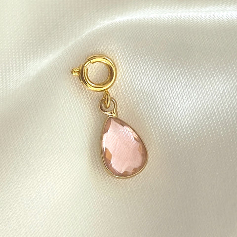 NEW ! Charm Pink Stone