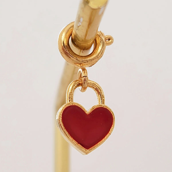 Charm Red Lock Heart