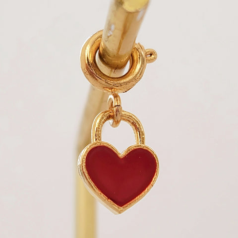 NEW ! Charm Red Heart