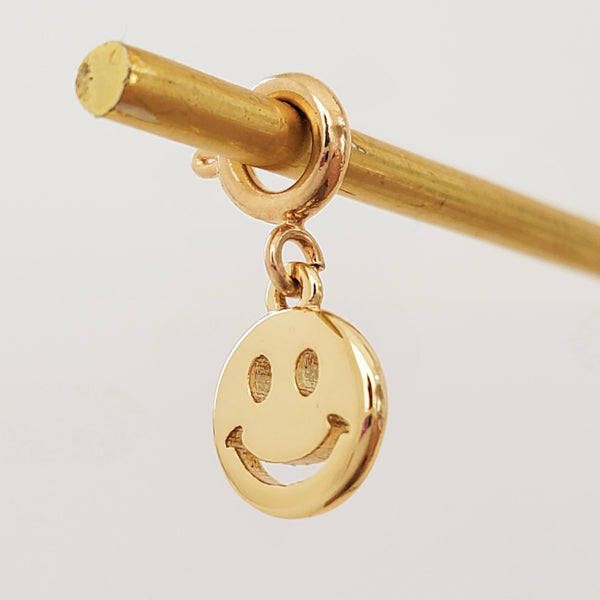 Charm Gold Smiley
