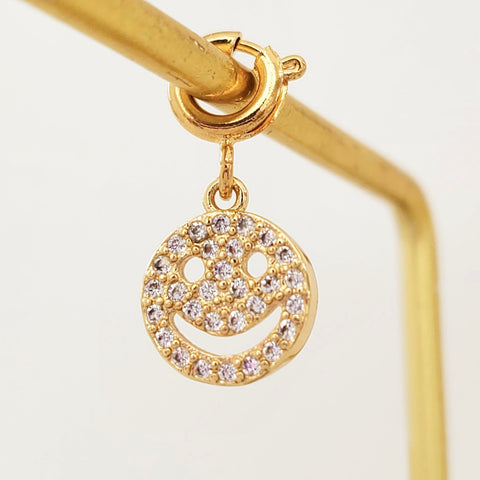 NEW ! Charm Gold Smiley 2