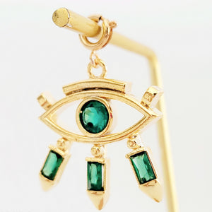 NEW ! Charm XL Green Evil Eye