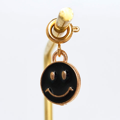 Charm Smiley Black Gold