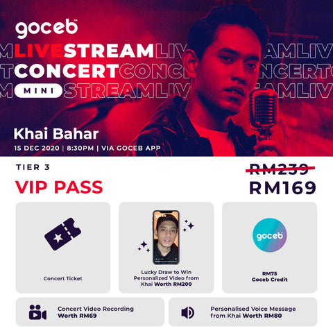 Goceb LiveStream Concert Mini: with Khai Bahar (Video Recording)