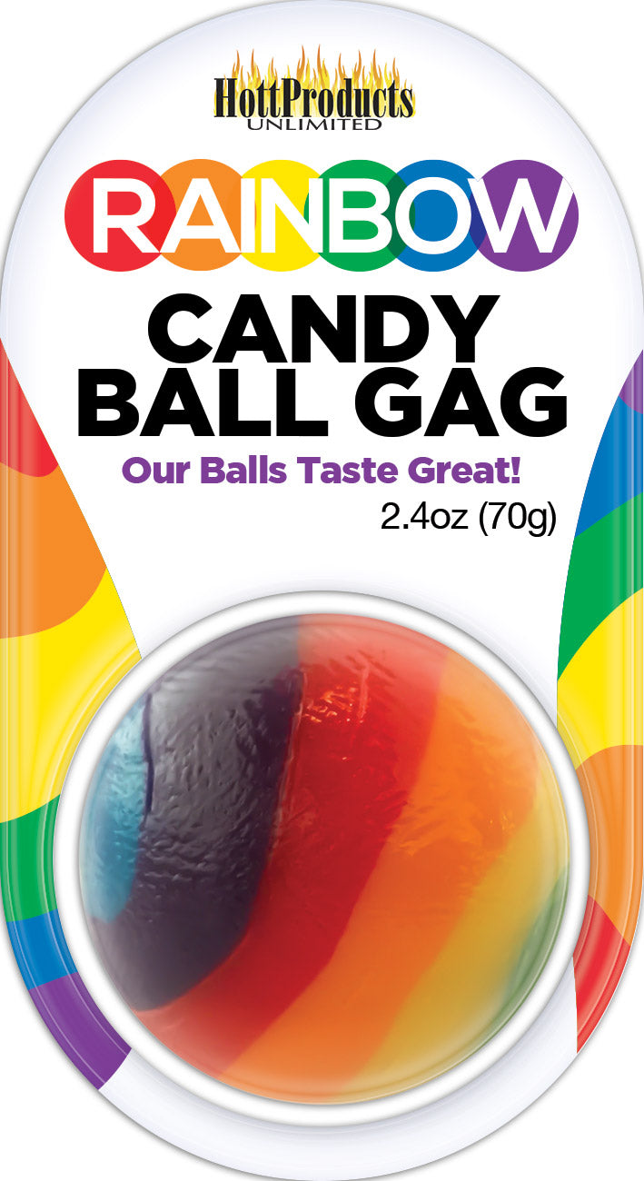 Rainbow Candy Ball Gag