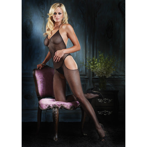 Leg Avenue Seamless Halter Suspender Bodystocking