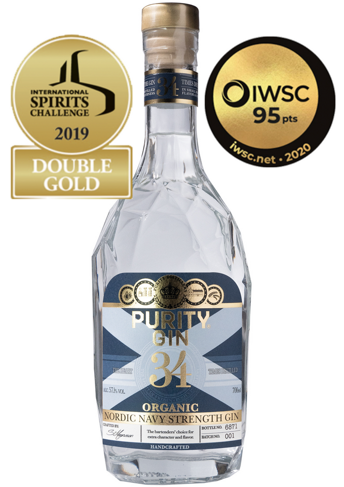 PURITY NORDIC NAVY STRENGTH ØKO GIN 57%
