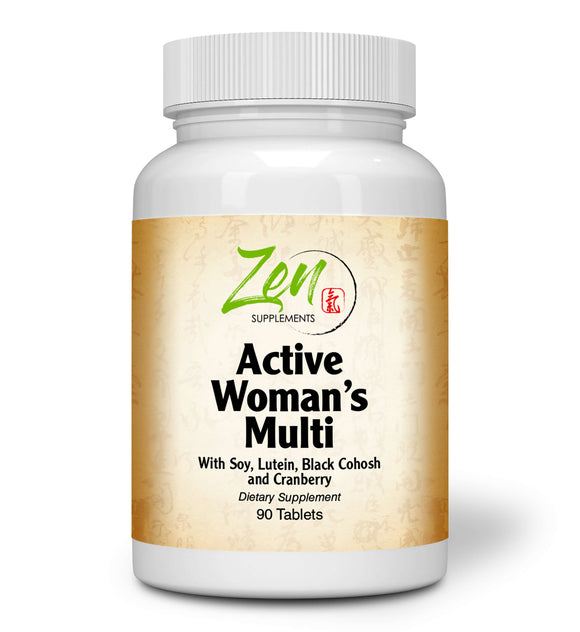 Zen Supplements - Active Woman's Multi-Vitamin 90-Tabs - Women's Multivitamin & Multimineral with Botanicals & Herbs - Supports Immune Health & Sexual Wellness