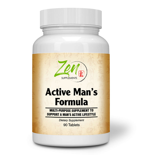 Zen Supplements - Active Man's Multi-Vitamin 90-Tabs - Men's Multivitamin & Multimineral with Botanicals & Herbs - Supports Immune Health & Sexual Wellness