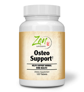 Zen Supplements - Osteo Support with Calcium 1200 mg, Ostivone™ 200 mg, Soy Isoflavones 250 mg, Plus Minerals and Herbs 120-Tabs