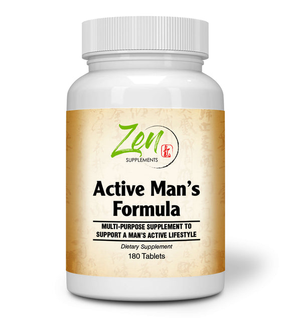 Zen Supplements - Active Man's Multi-Vitamin 180-Tabs - Men's Multivitamin & Multimineral with Botanicals & Herbs - Supports Immune Health & Sexual Wellness