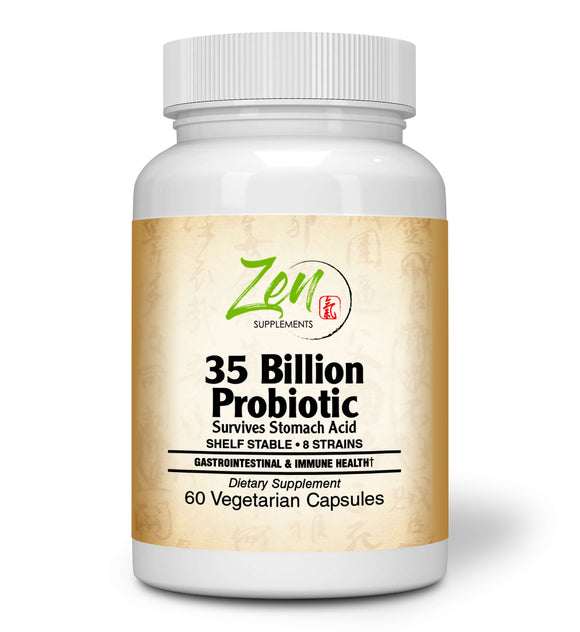 35 Billion Probiotic CFU with 8 Strains 60-Vegcaps - Sustained Release Technology, Resist Stomach Acid, Shelf Stable - Support for Healthy Digestion & Intestinal Ecology Favorable Intestinal Flora