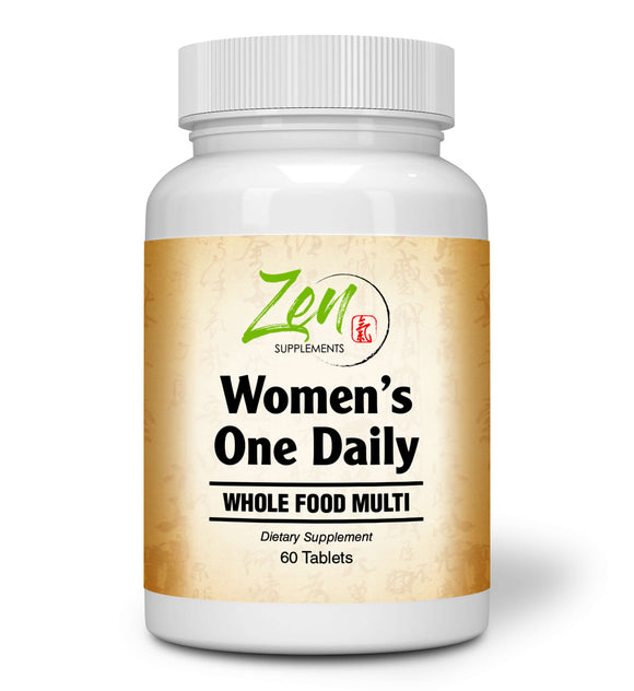 Zen Supplements - Women's One Daily Organic Whole Food Multi-Vitamin 60-Tabs - Women's Multivitamin Made from Organic Whole Foods - Natural Energy Support & Wellness