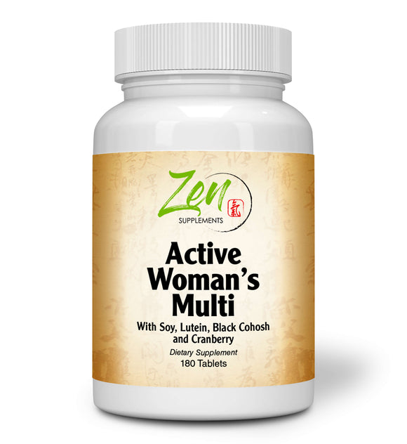 Zen Supplements - Active Woman's Multi-Vitamin 180-Tabs - Women's Multivitamin & Multimineral with Botanicals & Herbs - Supports Immune Health & Sexual Wellness