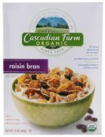 Cascadian Farm Organic Raisin Bran Cereal, 12.0 oz