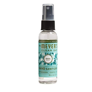 Mrs. Meyer's Clean Day Antibacterial Hand Sanitizer Spray, Removes 99.9% Bacteria on Skin, Basil Scent, 2 oz, [wellica]