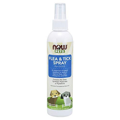 Now Foods Flea and tick spray for dogs, essential oil based repellent, no deet, 8 Ounce, [wellica]