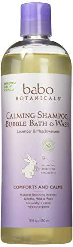 Babo Botanicals 3 in 1 Bubble Bath and Shampoo and Wash Lavender Meadowsweet - 13.5 fl oz