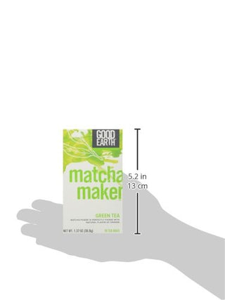 Good Earth 216930 Super Green Tea, Matcha Maker Green Tea - 18 Ct. Box
