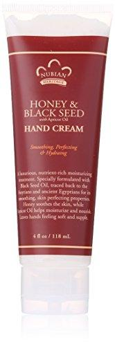 Nubian Heritage Hand Cream, Honey and Black Seed, 4 Ounce, [wellica]