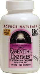Source Naturals, Essential Enzymes Vegetarian, 120 Count
