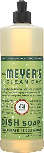 Mrs. Meyer's Clean Day Liquid Dish Soap, Cruelty Free Formula, Iowa Pine Scent, 16 oz