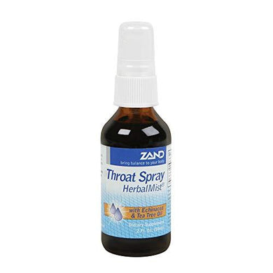 Zand HerbalMist Throat Spray | Peppermint | Soothing Herbal Formula with Echinacea, Tea Tree Oil, Sage, Goldenseal & More | Lab Verified (2oz)