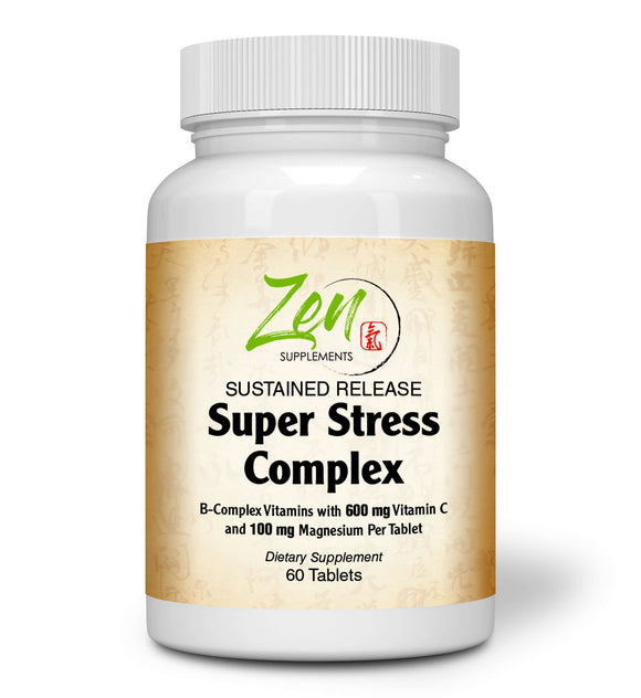 Super Stress Complex Multi 60 Tabs with B Vitamins, & Calming Herbs to Combat the Impact of Stress - All B Vitamins Including B12, B1, B2, B3, B5, B6, B7, B9, Folic Acid - Vitamin B Complex for Stress, Energy and Healthy Immune System