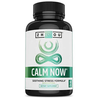 CALM NOW Soothing Stress Support Supplement, Herbal Blend Crafted To Keep Busy Minds Relaxed, Focused & Positive; Supports Serotonin Increase; Hawthorn, Ashwagandha, Rhodiola Rosea, B Vitamins & More, [wellica]