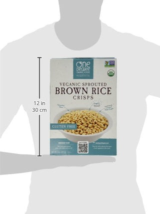 One Degree Cereal Rice Crisp Brown, 8 oz, [wellica]