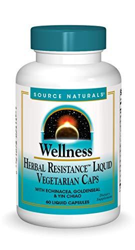 Source Naturals Wellness Herbal Resistance - Echinacea, Coptis & Yin Chiao Immune Support - 60 Capsules