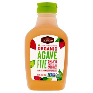 Madhava Natural Sweeteners Organic Agave Five Nectar, 16 Ounce