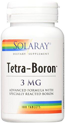 Solaray Tetra Boron 3mg Tablets, 100 Count