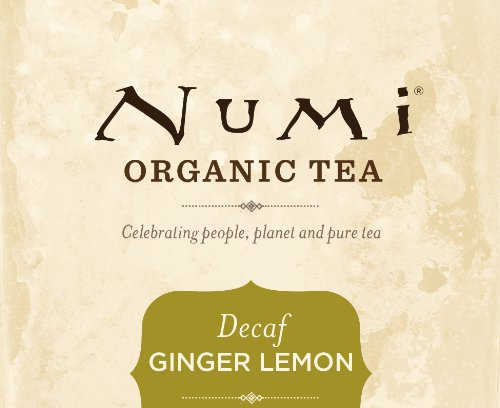 Numi Organic Tea Ginger Lemon, 16 Count (Pack of 1) Box of Tea Bags, Decaf Green Tea (Packaging May Vary)