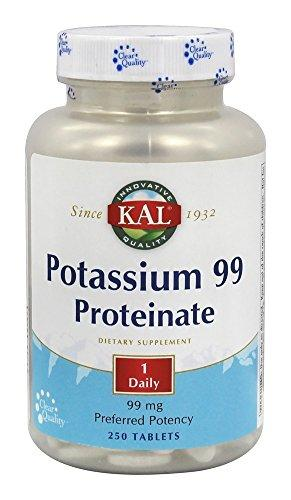KAL 99 Mg Potassium Proteinate Tablets, 250 Count