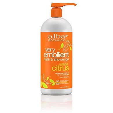 Alba Botanica Very Emollient Bath & Shower Gel - Island Citrus 32 fl oz (947 ml) Gel