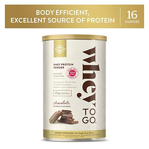 Solgar – Whey to Go Protein Powder, Natural Chocolate Flavor - Wellica - {{ shop.location }}