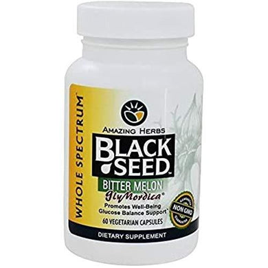 Amazing Herbs Black Seed with Bitter Melon - 60 Capsules