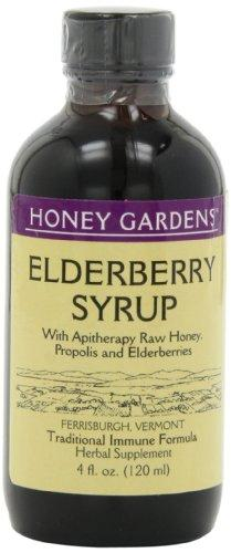 Honey Gardens Elderberry Syrup w/Apitherapy Raw Honey, Propolis & Elderberries | Immune Formula | 2 Pack